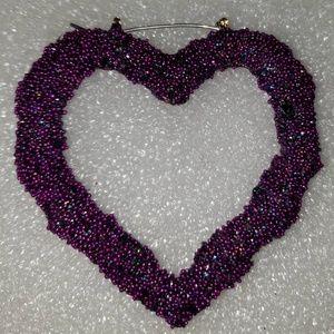 Microbeads Heart Earrings